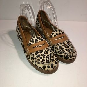 Sperry Animal Print Loafers-Sz 7.5